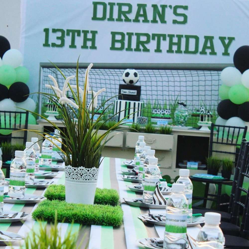 Football Birthday Party Ideas Photo 1 Of 13 Football Theme Birthday Football Birthday Party 13th Birthday Parties