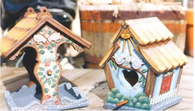 Make your own hand painted bird feeder. You can be creative painting bird feeders adding color ...