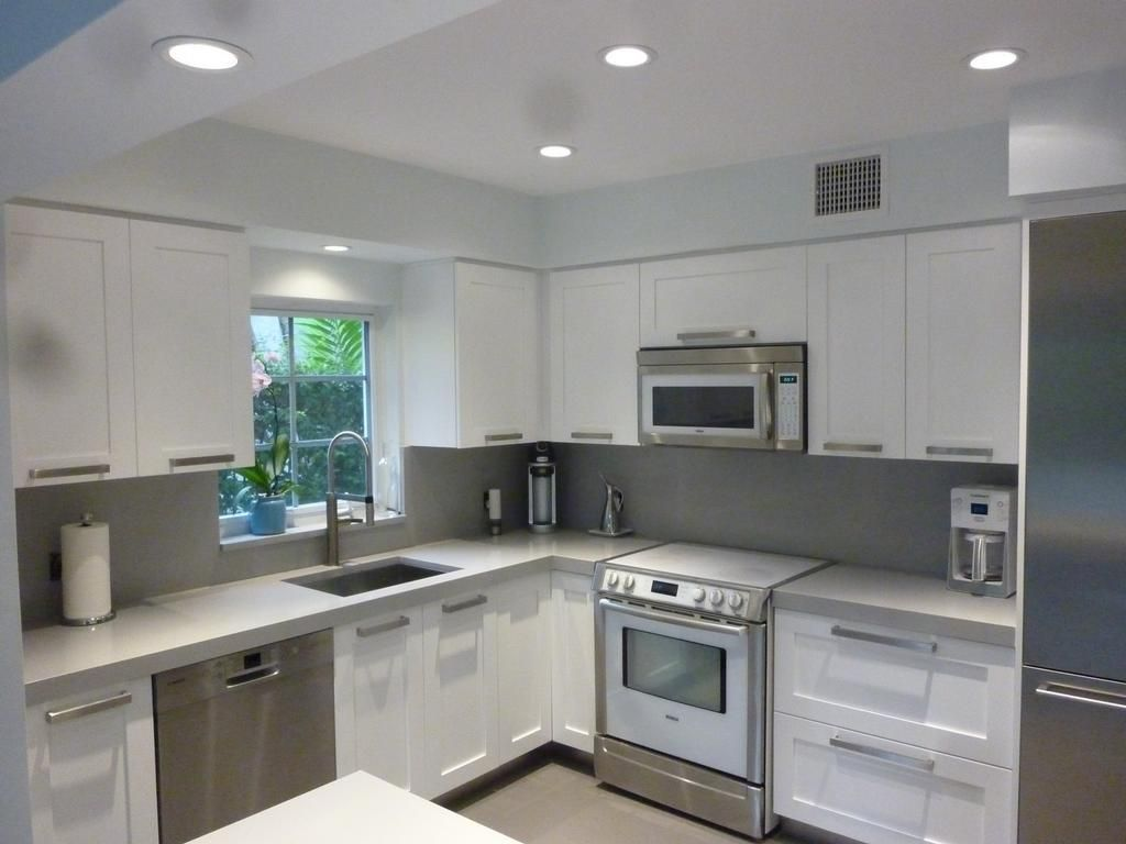 White Shaker Kitchen Cabinets By Kitchen Cabinets Cabinet Refacing By  Visions