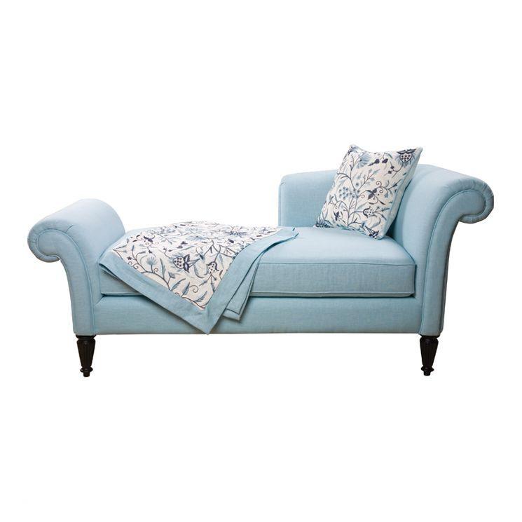 Home Decor Cashmir Fainting Chaise Lounge In Light Blue