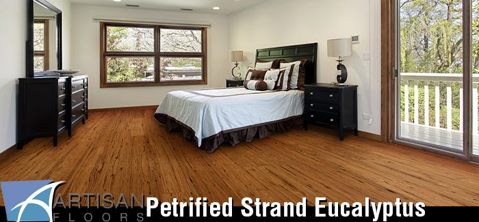 Our Petrified Strand Eucalyptus Collection by Artisan Floors features a premium grade smooth wide-plank solid hardwood flooring made with exotic Strand Woven Eucalyptus wood in several styles and colors. Eucalyptus is an eco-friendly, fast-growing, sustainable and reusable hardwood source.