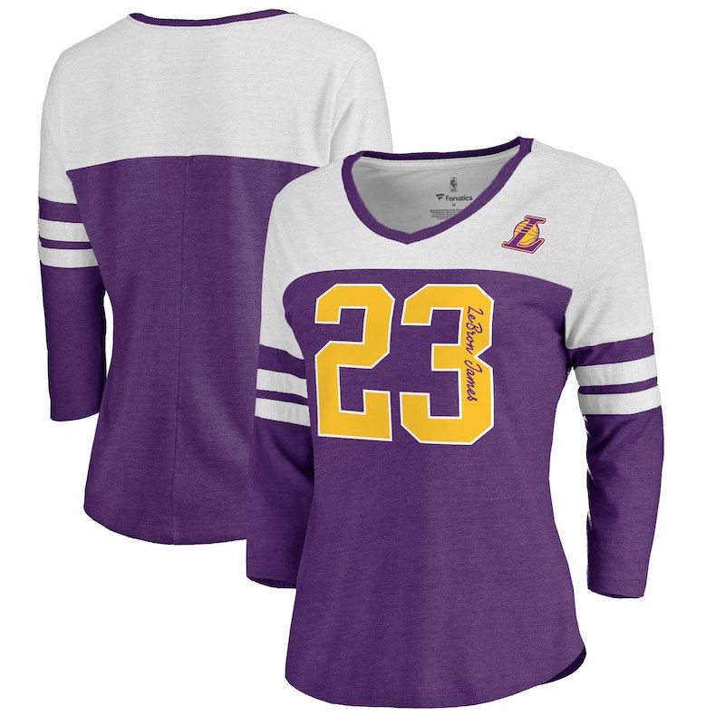 LeBron James Los Angeles Lakers Fanatics Branded Women s Starstruck Raglan Long  Sleeve T-Shirt – Purple a6bdb0e02
