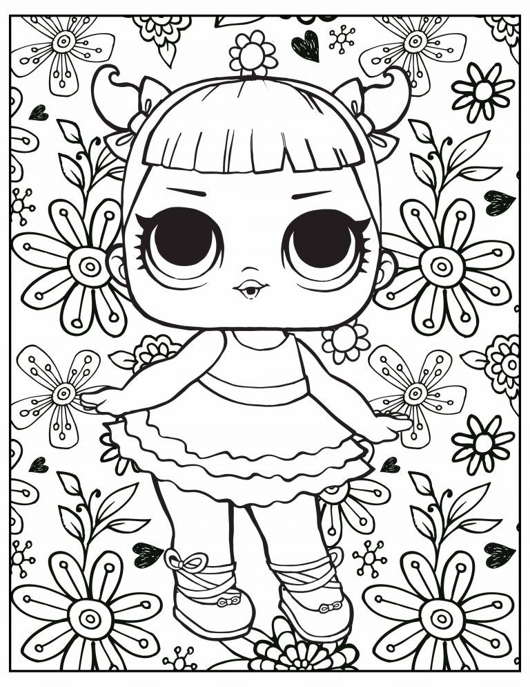 L O L Surprise Coloring Page Kids Printable Coloring Pages Cute Coloring Pages Barbie Coloring Pages