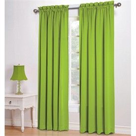 Lime green curtains on pinterest for Lime green curtains for bedroom