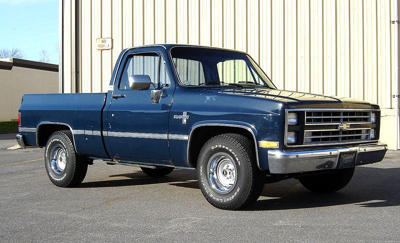 1987 Chevy K10 Silverado Square Body Vintage Pickup Truck T-Shirt