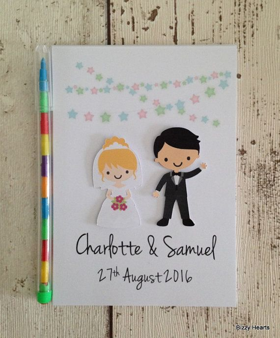 Children\'s Personalised Wedding Activity Pack A6 Customised Bride ...