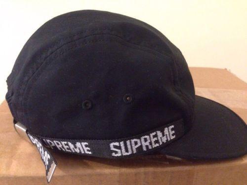 7b3c21722f9 Supreme side tape  5-panel cap hat  black box logo  brick hoodie