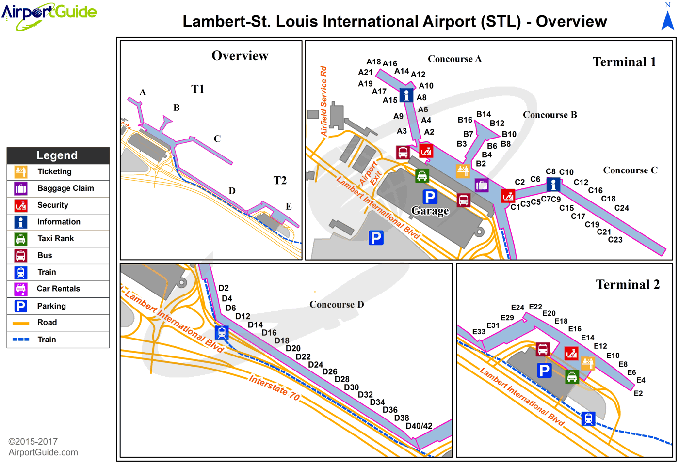 map of lambert international airport St Louis Lambert St Louis International Stl Airport Terminal map of lambert international airport