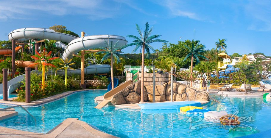 All Inclusive For Families In Turks N Caicos Sandals Resort These Are Little Heaven On Earth Water Park Caribbean All Inclusive Beach Resorts