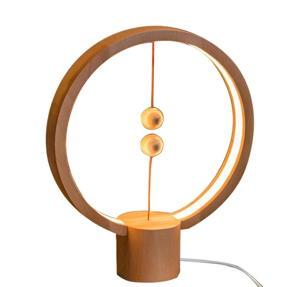 Roche Z Heng Balance Lamp Round Magnetic Mid Air Switch Usb Powered Led Lamp Warm Eye Care Led Lamp Night Lamp Table Lam In 2020 Glow Table Night Lamps Table Lamp