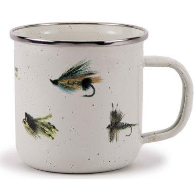 Loon Peak Quan Fishing Fly Coffee Mug Mugs Mugs Set Enamelware