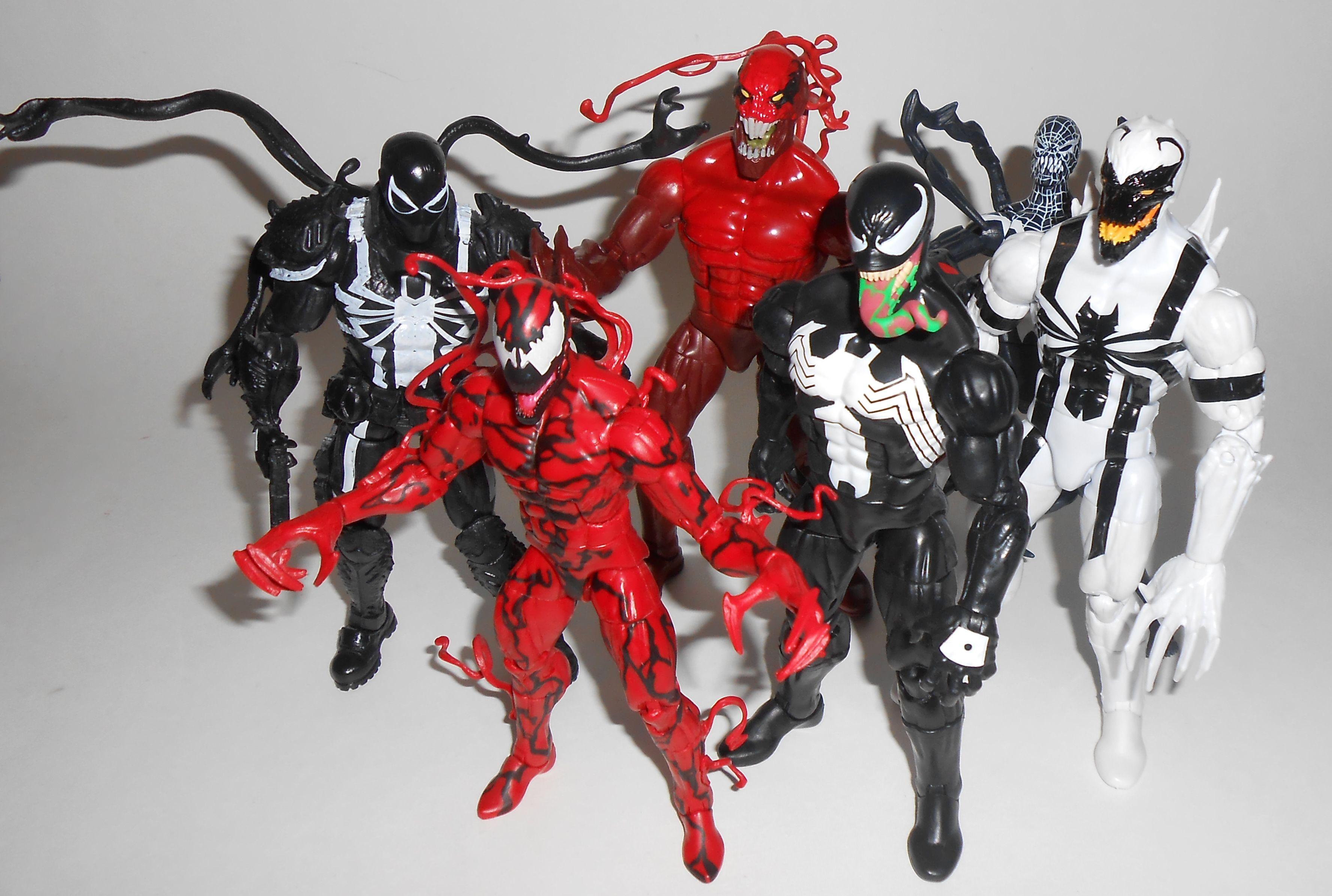 marvel legends symbiotes action figures pinterest