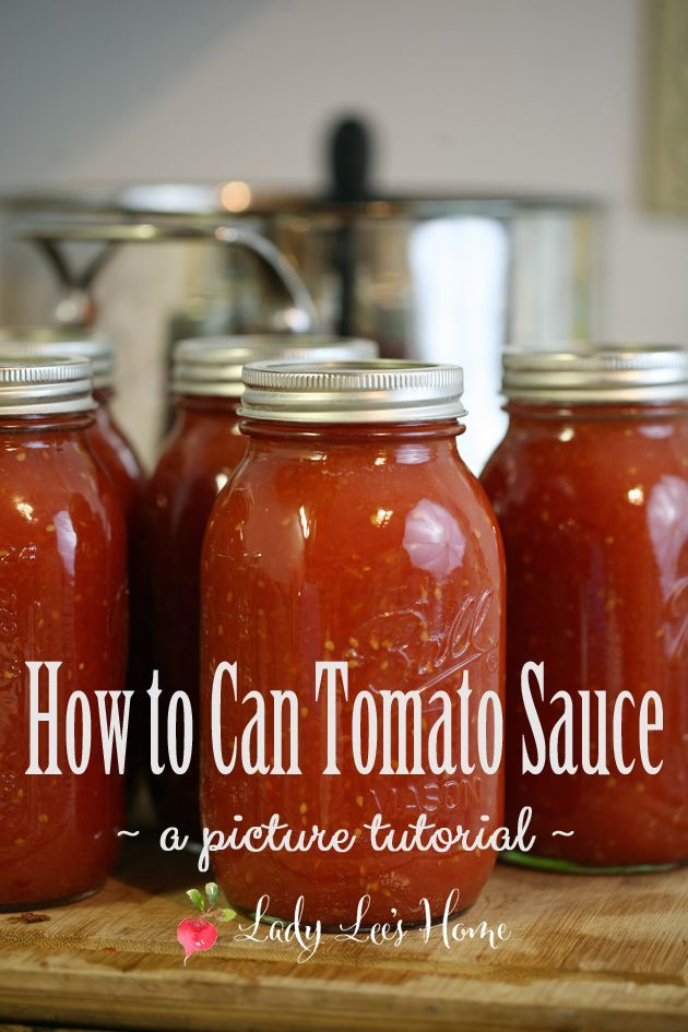 to Can Tomato Sauce How to can tomato sauce. Preserve the flavor of summer tomatoes by canning them as a sauce. Here is a step by step picture tutorial of how to do it!How to can tomato sauce. Preserve the flavor of summer tomatoes by canning them as a sauce. Here is a step by step picture tutorial of how to do it!