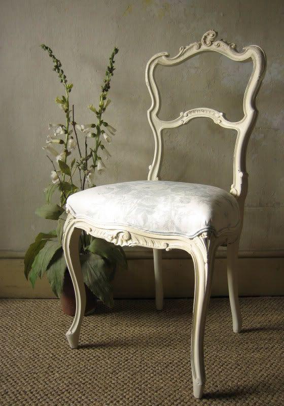 french rococo salon chair