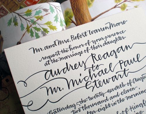 Handwritten Wedding Invitations Imprint Your Own Feelings Via The Invitation