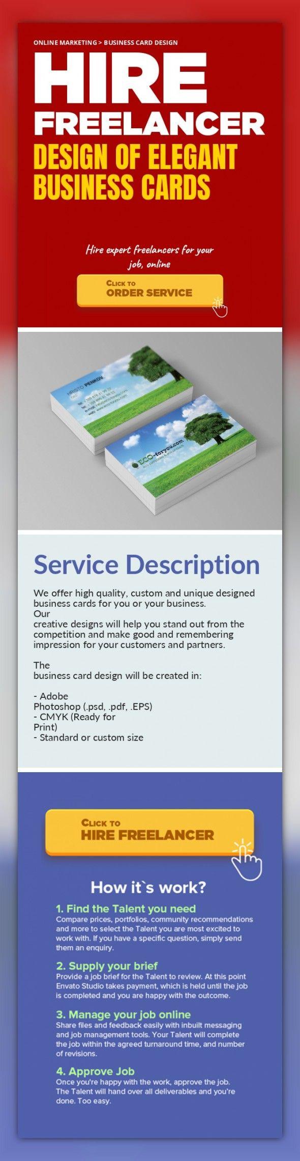 Design of Elegant Business Cards Online Marketing, Business Card ...
