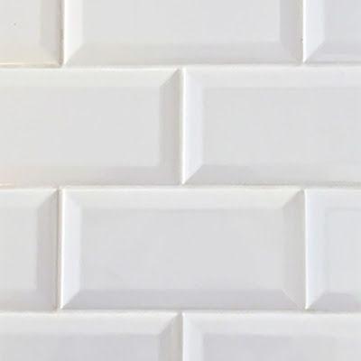 Ice White Beveled Subway Tile Glossy 3x6 Carpeting