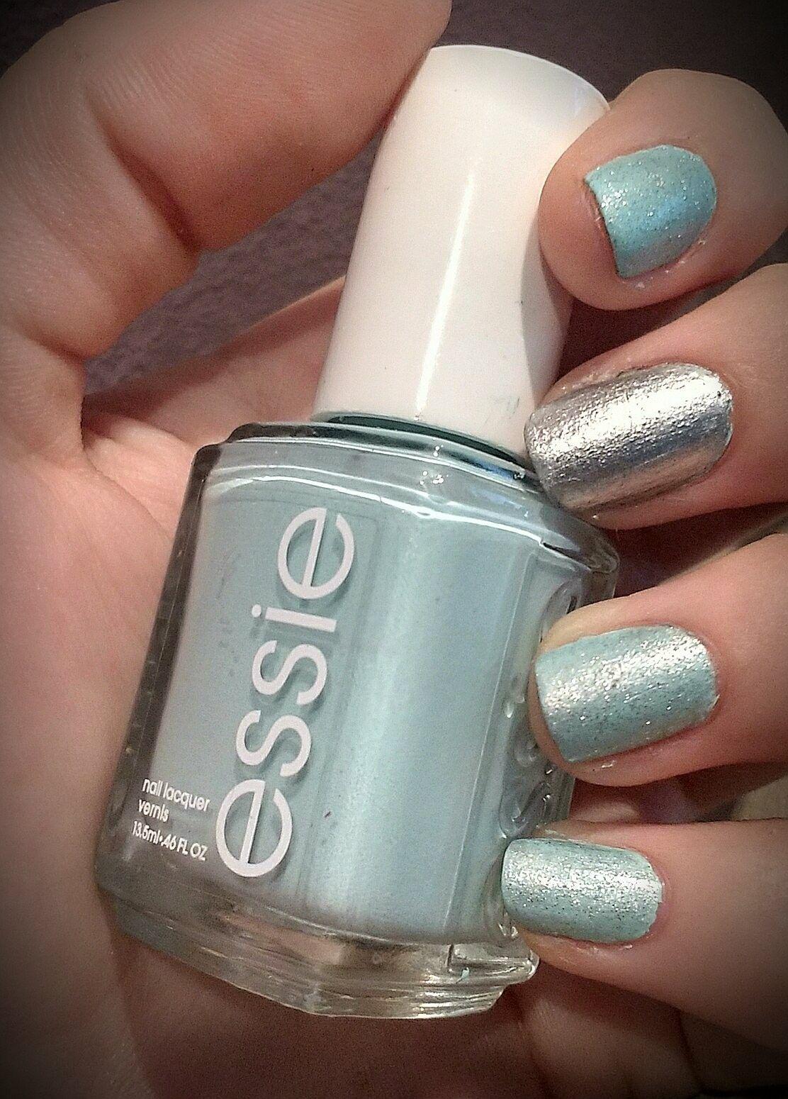 essie #nails #light blue #sparks #shine #celeste #uñas #brillo ...