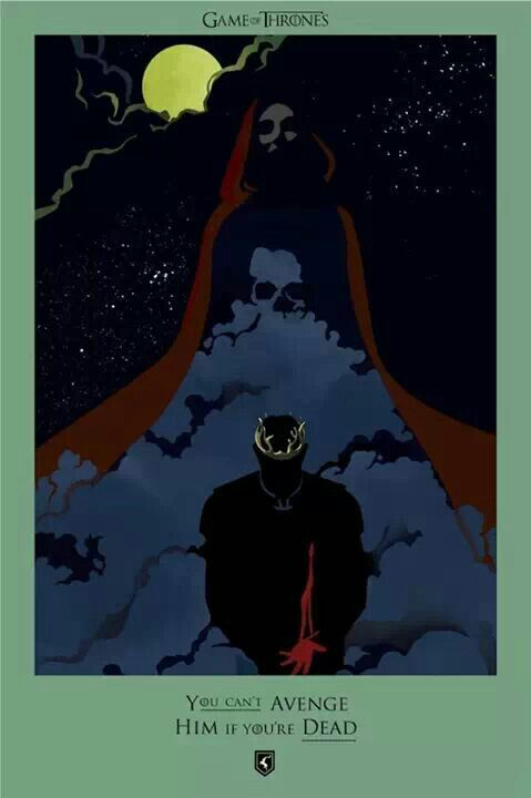 """It was a shadow"" ""A shadow that looked like Stannis"" ~ probably my favorite of the beautiful death posters"