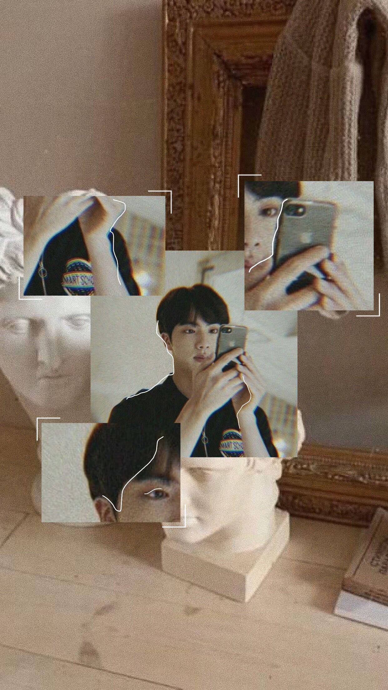Bts Jin Aesthetic Bts Bangtan Jin Seokjin Aesthetic Tumblr Kpop Gambar Artis Gambar Kota