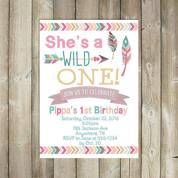 she s a wild one birthday invitation girl s first birthday girls
