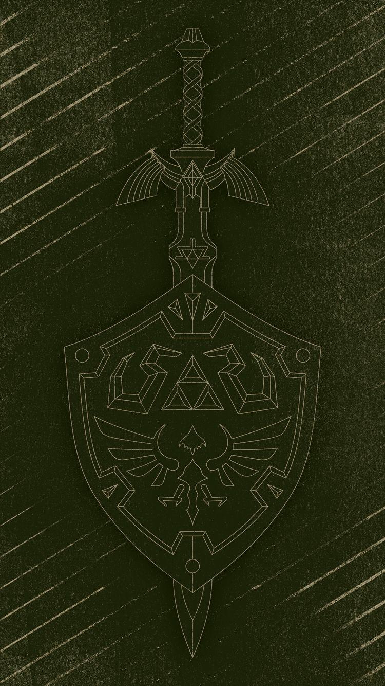 I Made Some Simple Mobile Wallpapers Based On The Master Sword And Hylian Shield Visit Blazezelda Tumblr Co Master Sword Legend Of Zelda Wood Carving Patterns
