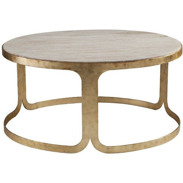 dwell studio furniture. Dwell Studio Bennett Travertine Antique Gold Coffee Table (1,715 BAM) ❤ Liked On Polyvore Furniture