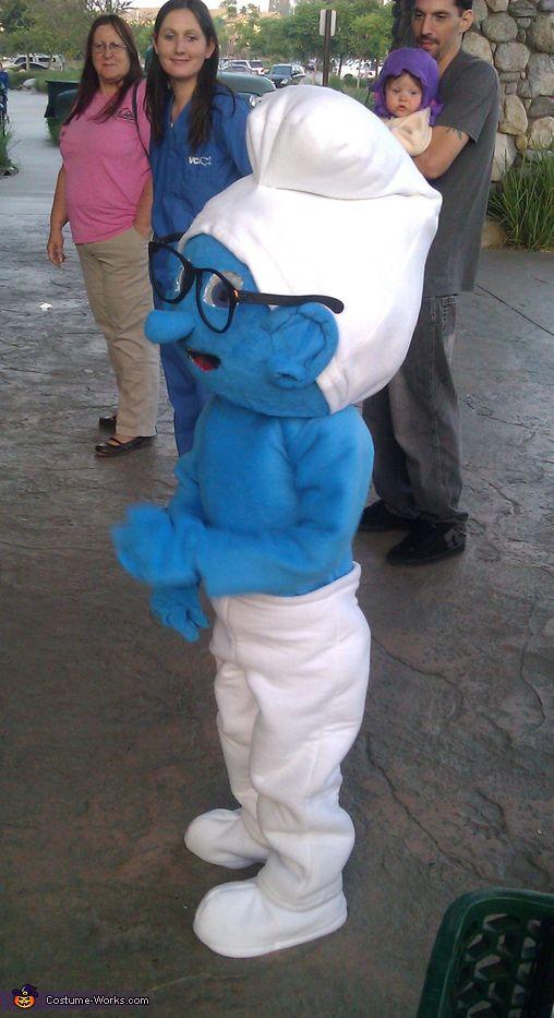Kid /& Adult Smurf Inspired Mask Blue Creature Halloween Costume Creative Play Brainy