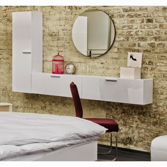 Wall Mounted Contemporary Dressing Table Designs Ideas Modern