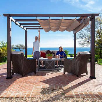 Valencia 12 X 16 Attached Pergola In 2020 Aluminum Pergola Backyard Patio Designs Outdoor Pergola