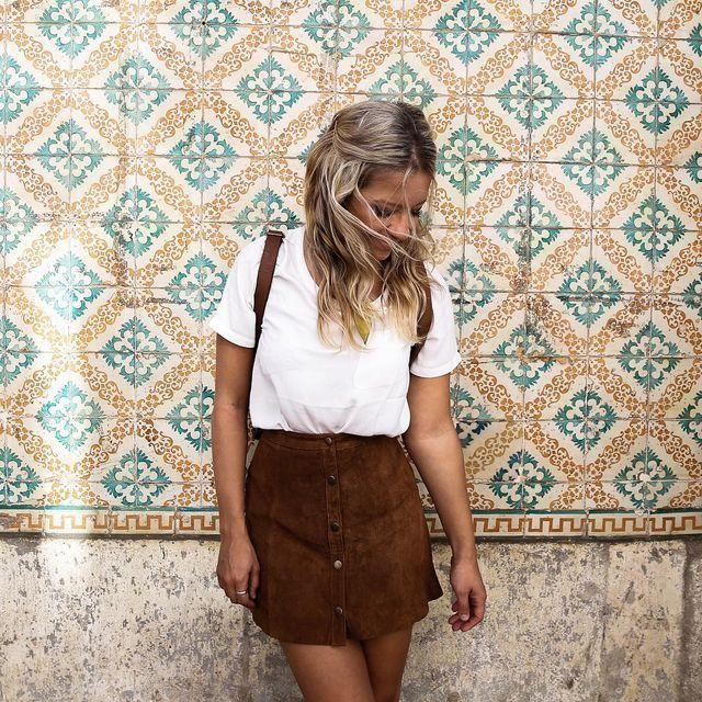 molto carino 57481 0e2cb Pin di Cecilia Socci su Gonne | Fashion, Suede skirt e ...