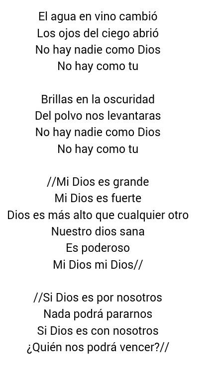 Mi Dios es grande, mi Dios es fuerte