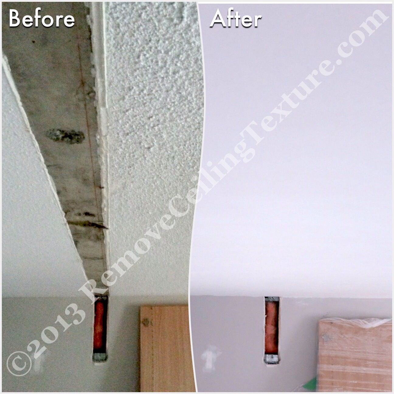 After Removing Walls Ceiling Repairs Will Need To Be Done As You Can See At This Condo Ceilings Ceiling Texture Removing Popcorn Ceiling Popcorn Ceiling