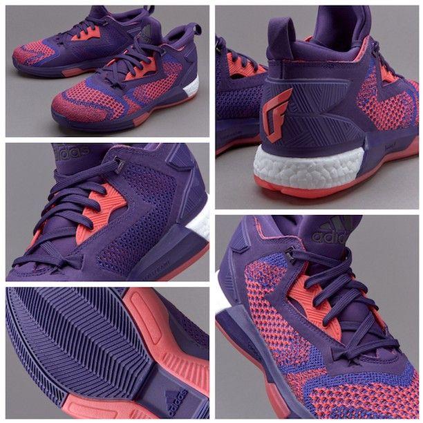 Adidas damian lillard 2 rosso porpora