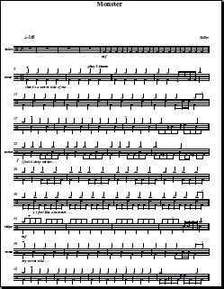 Monster Skillet Drum Sheet Music