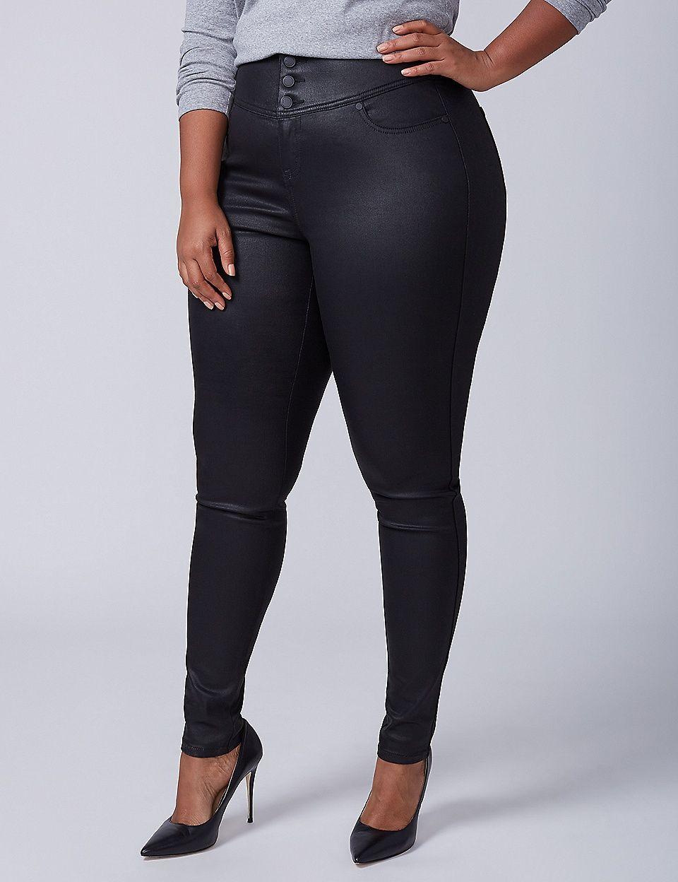 33acb9b0426 High-Rise Super Stretch Skinny Jean - Coated