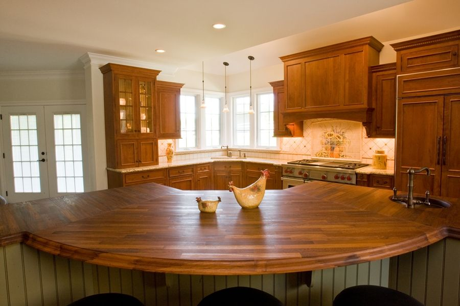 Kitchen With A Large Island A Curved Overhang For Seating And Beadboard On The Back Of The Kitchen Island Dimensions Kitchen Island Panels Diy Kitchen Island