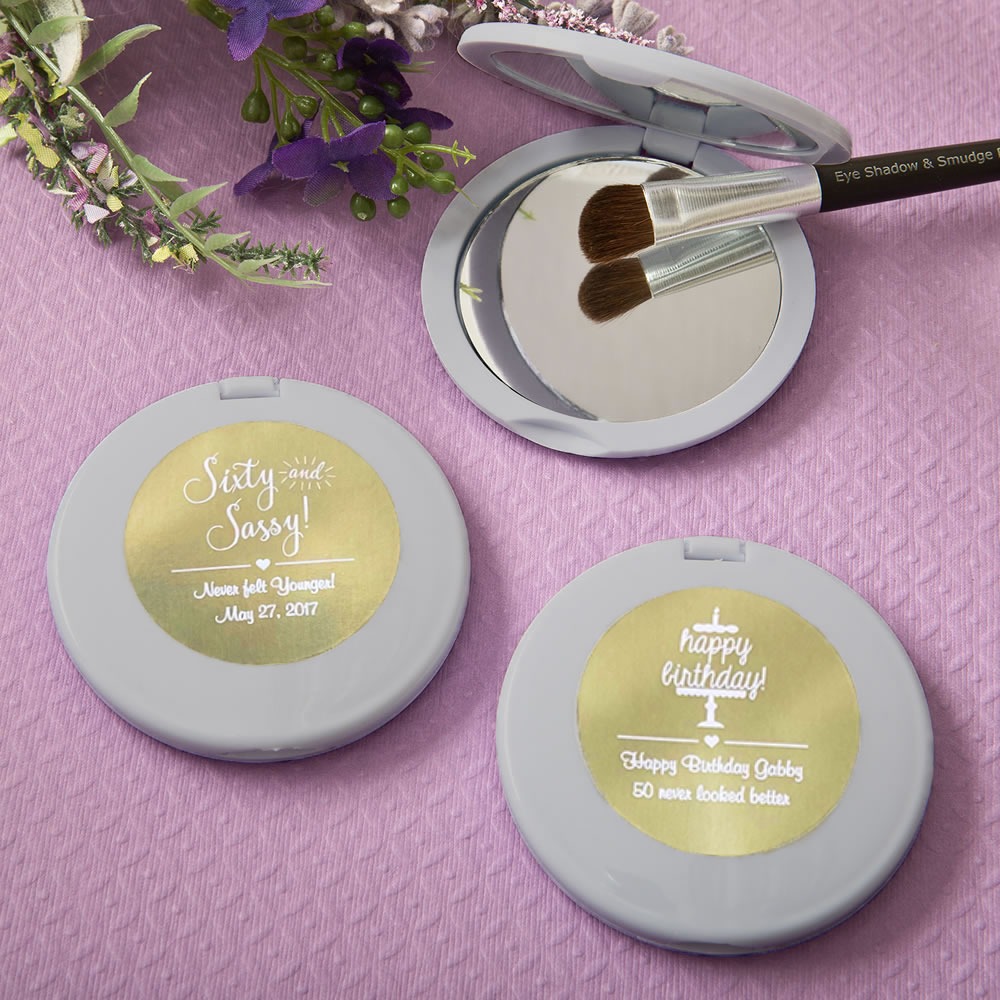 Personalized Metallics Silver Compact Mirror Party Favors Buy Now At Famousfavors Com Partyfavors Compact Mirror Compact Mirror Classy Gift Fashioncraft