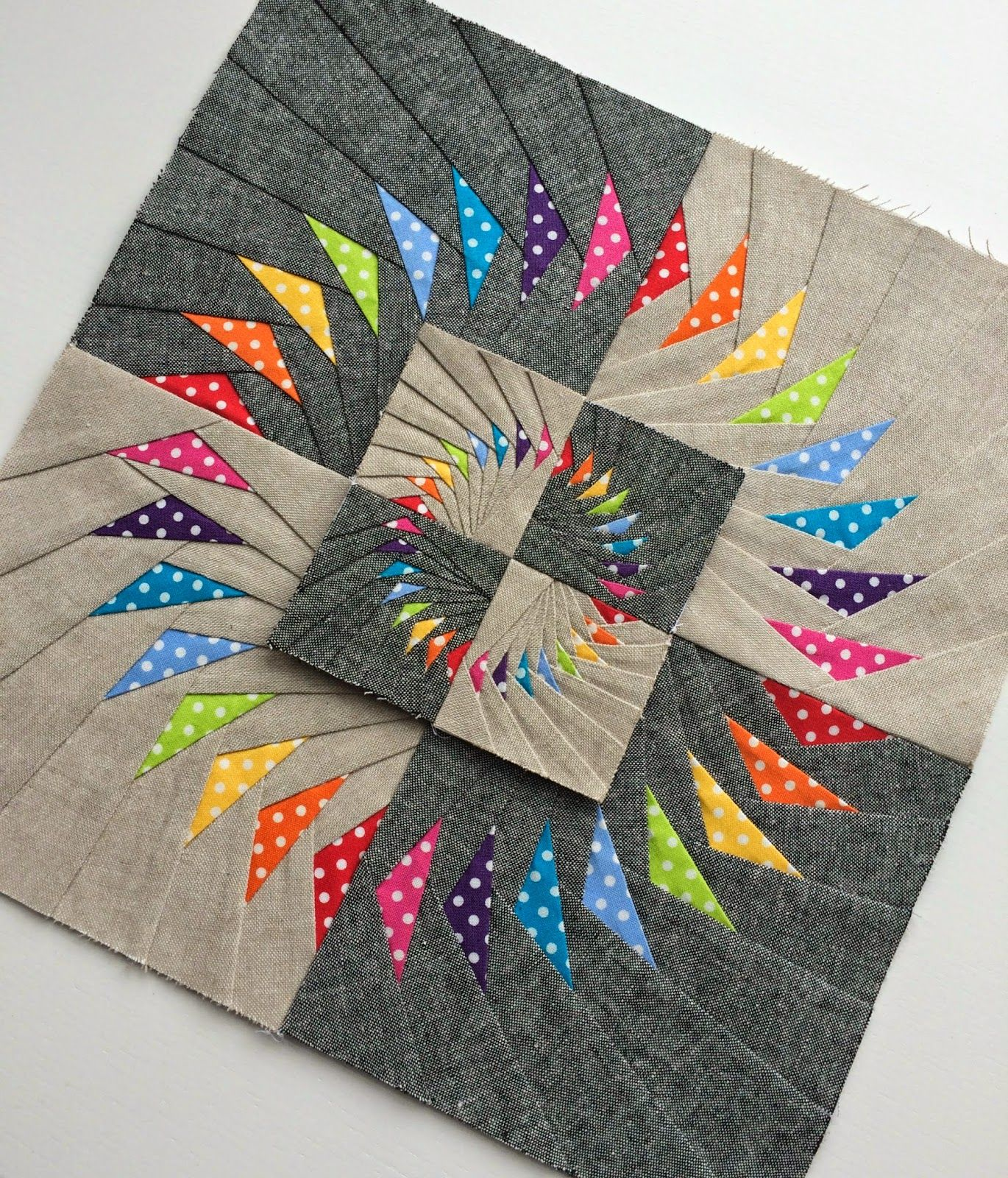 Double Circle Of Flying Geese Block Quilting Pinterest Quilts