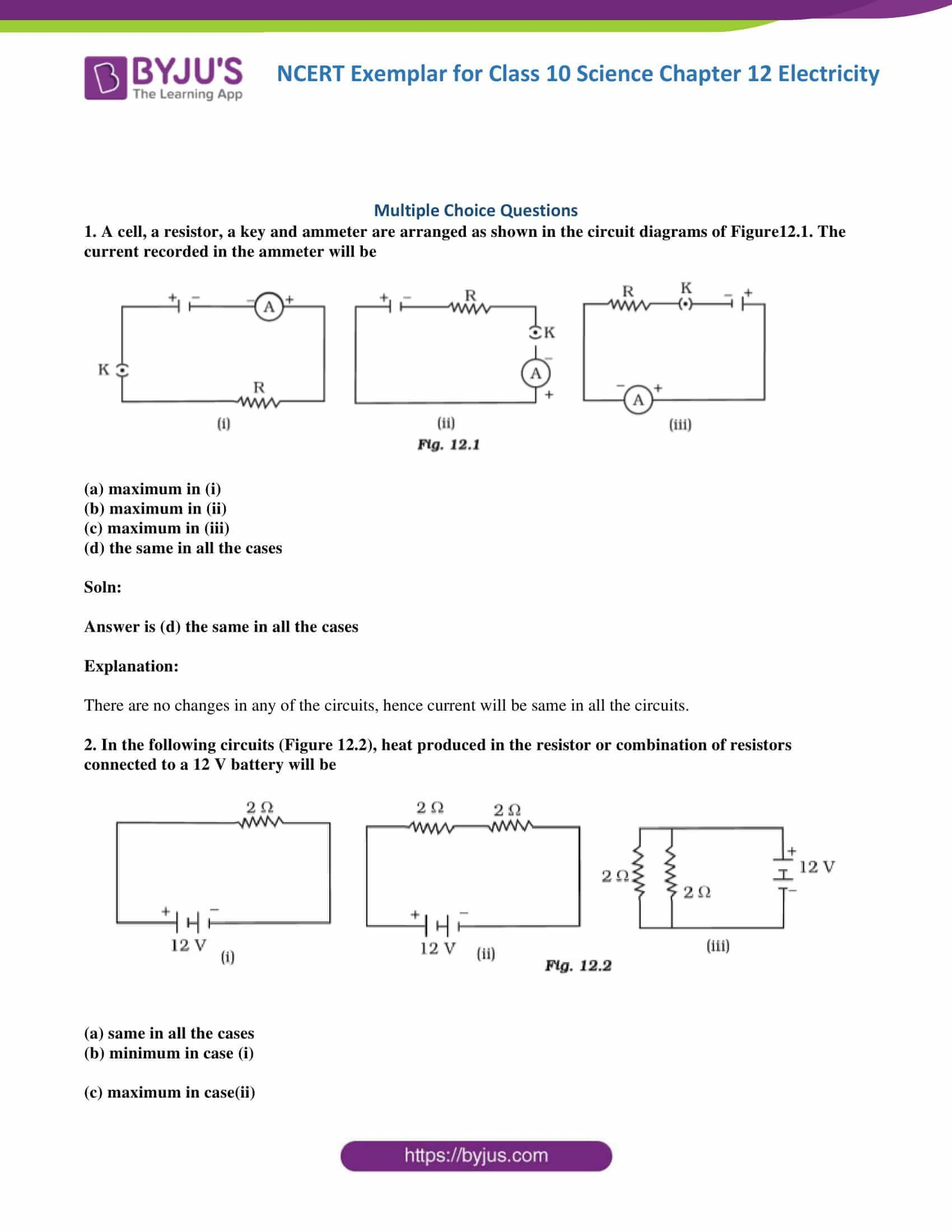 Combination Circuit Worksheet