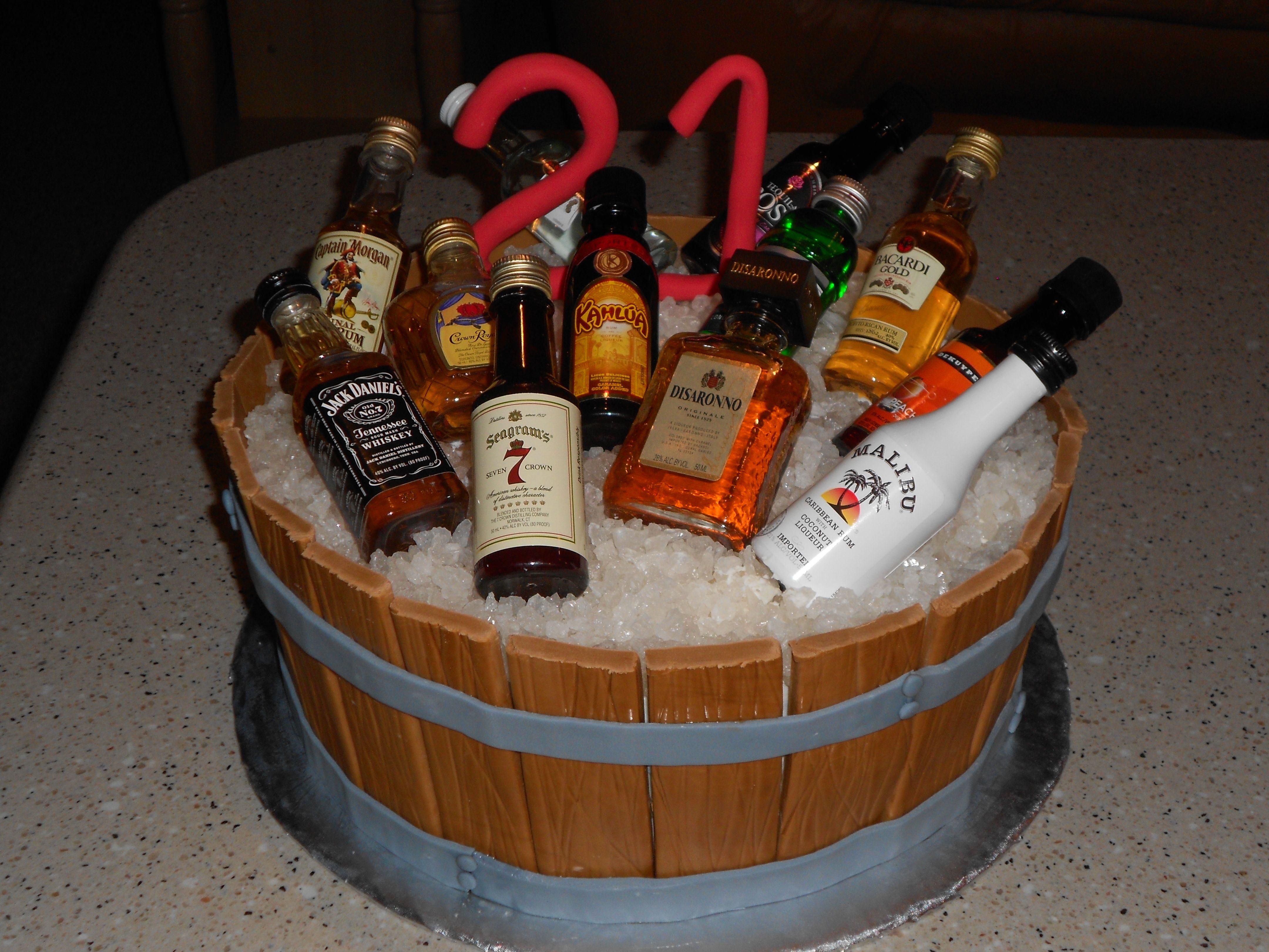 Barrel 21st Birthday Cake 21st Birthday Cakes 21st Birthday Cake For Guys Alcohol Birthday Cake