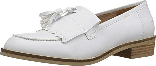 Steve Madden Women Meela Moc Toe Fringe Tassel Loafer Shoe White US 9 -- New