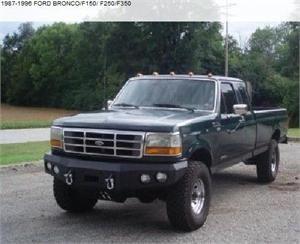 ford f350 bumpers bumper winch front bronco f250 f150 powerstroke truck 96 obs iron aftermarket 1995 custom bull trucks rear