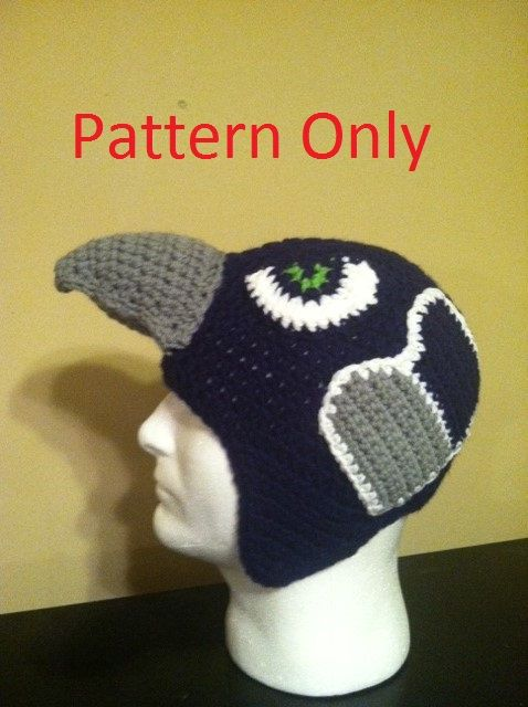 This One Of A Kind Seahawk Hat Has A Crochet Pattern Yay If You