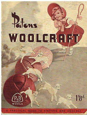 Vintage Patons Woolcraft Babies Knitting Crochet Pattern