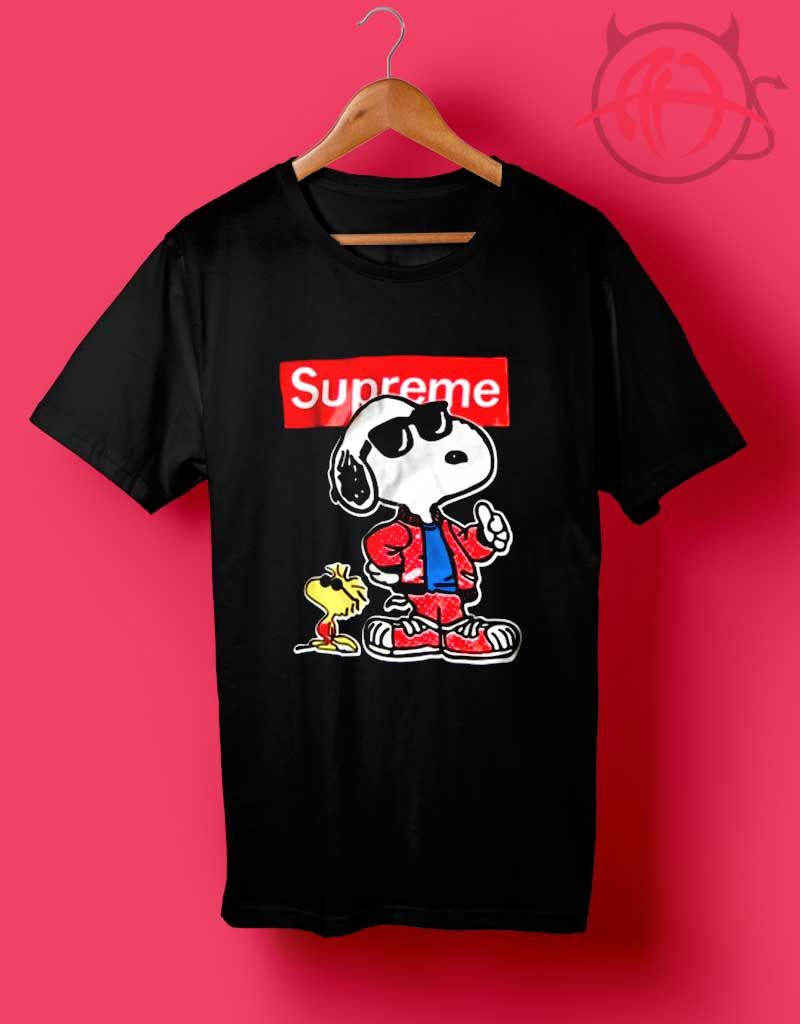 5770854b063f Trend Fashion Grunge Snoopy Supreme Collab T Shirt.Cheap Custom Supreme  Snoopy Shirt On Sale Top Fun Men's & Women's Cheap Custom Tee Fashion By ...