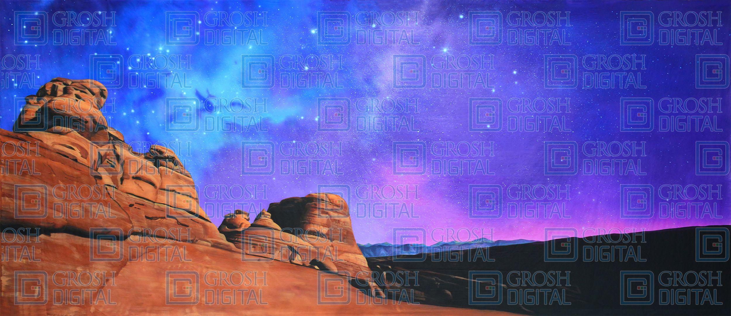 Night Desert Landscape Landscape Desert Landscaping Landscape Projects