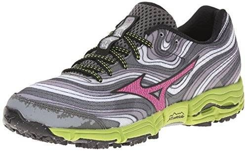 Mizuno Women S Wave Kazan Trail Running Shoe Alloy Wild Aster 9 B Us
