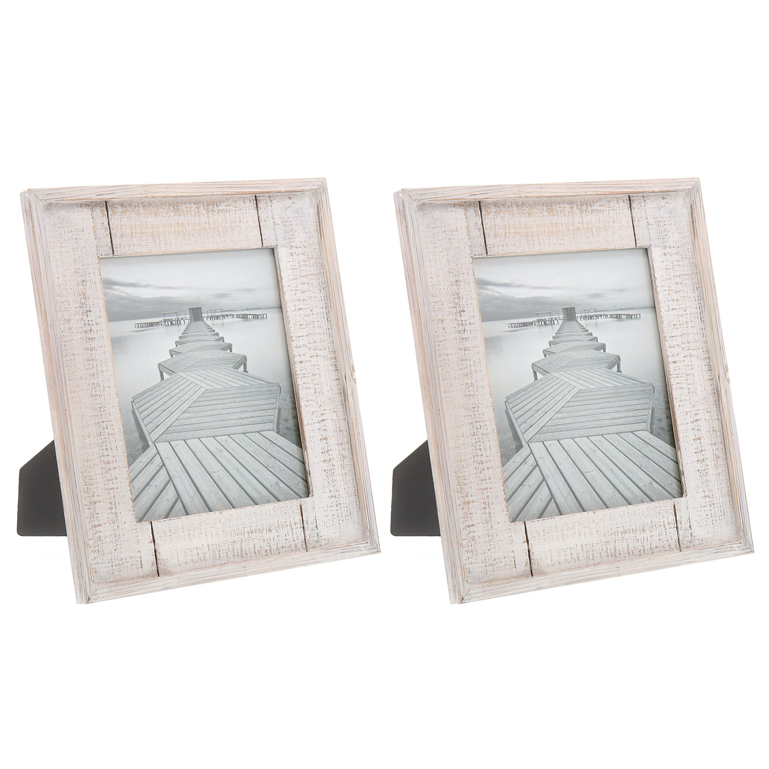 Barnyard Designs Rustic White Distressed Picture Frame 6 Frames 2x 4 X 6 5 X 7 8 X 10 Bundle In 2020 Distressed Picture Frames Wood Photo Frame Photo On Wood