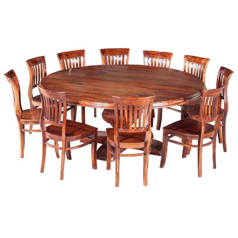 Sierra Nevada 84 Large Round Rustic Solid Wood Dining Table Chair Set Round Dining Room Table Large Round Dining Table Round Dining Room